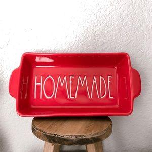 Rae Dunn Red Christmas Homemade Pan